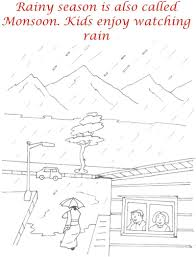 rainy season pictures for kids marwer rainy season coloring