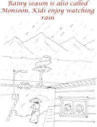rainy season pictures for kids marwer rainy season coloring