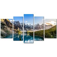 <b>5</b> Pieces Modern <b>Canvas Painting</b> Wall <b>Art</b> The Picture For Home ...