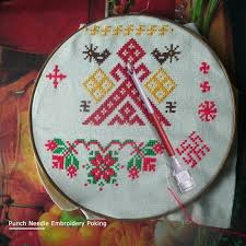<b>DIY</b> Punch Needle Set Embroidery ABS Plastic <b>Needle Felting</b> Wool ...