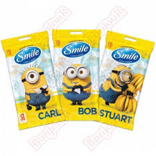 <b>Салфетки влажные Smile Minions</b> микс дизайнов 15шт ...