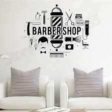 <b>YOYOYU Wall Decal</b> Barbershop Hair Salon Stylist Barber Sticker ...