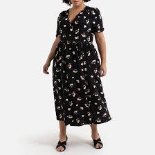 <b>LA REDOUTE</b> COLLECTIONS PLUS <b>Платье</b> с запахом <b>длинное</b> с ...