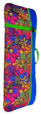 <b>Skatebox Чехол</b>-рюкзак для <b>самоката</b> ST3 (210мм) Цветы синие ...