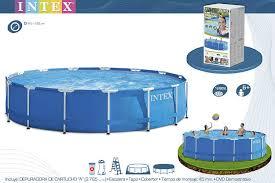 Купить каркасный бассейн <b>457х122см</b>, <b>Metal Frame</b> Pool <b>intex</b> ...