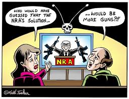 The NRA Speaks Cartoons via Relatably.com