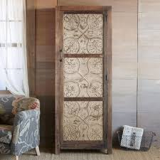 country themed reclaimed wood bathroom storage: this tin and reclaimed wood cabinet makes a sophisticated addition to any room