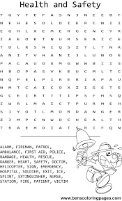 Small Picture health and safety word search coloring pages