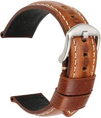 <b>MAIKES Watch Band</b>, Vintage Oil Wax Leather Strap <b>Watchband</b> ...