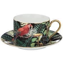"""<b>Чайная пара 180</b> мл 1 шт """"Тропические птицы"""" / 195032 купить в ..."""
