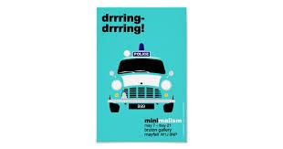 Classic Original <b>Mini</b> Police van <b>minimalist</b> art Poster | Zazzle.com