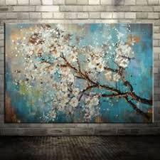 Mintura <b>100</b>% <b>Handpainted</b> Flowers and Tree Draw <b>Morden</b> Oil ...