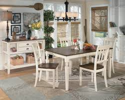 Two Toned Dining Room Sets Signature Design By Ashley Whitney 5 Piece Two Tone Cottage Round