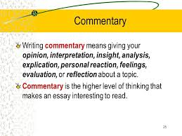 what is a commentary essayprepared by melissa freeman the multi paragraph essay arp i s d       commentary