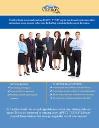 careers viceroy realtor new agent flyer