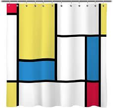 Sunlit Design Fabric Shower Curtain Geometry ... - Amazon.com