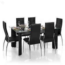 RoyalOak Geneva Dining Set With Six Chairs  Modern  Zansaar