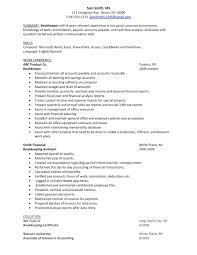 sample resume for bookkeeper accountant cv resumes maker guide sample resume for bookkeeper accountant sample resume for accountant now bookkeeper resume samples bookkeeper resume