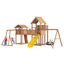 <b>Игровой</b> комплекс для дачи <b>Jungle</b> Palace + <b>Jungle</b> Cottage (без ...