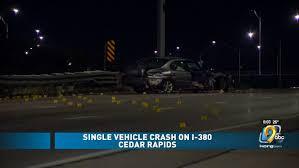 One hurt in crash on I-<b>380</b>