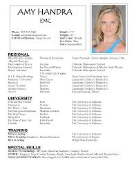 13 top acting resume example resume template info sample musical theatre resume