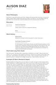 babysitting resume samples   visualcv resume samples databasebabysitting resume samples