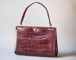 <b>Crocodile</b> leather <b>pattern women handbag</b>. Burgundy top handle | Etsy