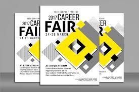 career fair flyer poster flyer templates on creative market