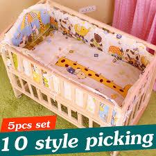 5PCS Infant <b>Baby Bedding</b> Set Cotton <b>Baby Crib Bedding</b> Set Boy ...