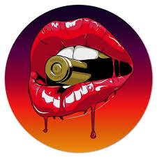 Коврик для мышки (круглый) Пуля во рту #1601435 от ...