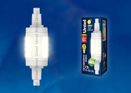 <b>Лампа</b> светодиодная <b>Uniel LED</b>-<b>J78</b>-<b>6W</b>/<b>WW</b>/<b>R7s</b>/<b>CL PLZ06WH</b> ...