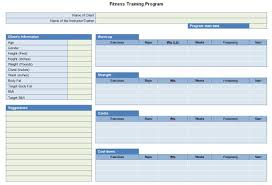 fitness gift certificate wordtemplates net weekly s report middot fitness training program sheet