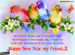 English Cute Happy New Year wishes for Friends | QuotesAdda.com ...