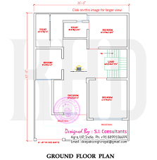 North Indian style flat roof house   floor plan   Kerala home    First floor plan