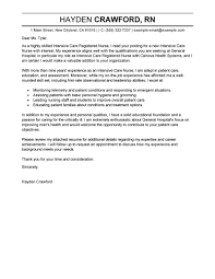 best intensive care nurse cover letter examples livecareer edit