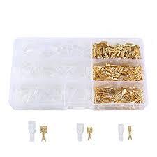 <b>2.8</b>/<b>4.8</b>/<b>6.3</b>mm Female Spade Connectors Terminals Kit w Insulating ...