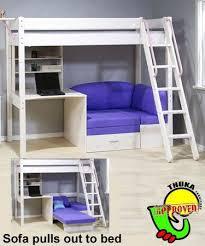 bunkbedwithfutonanddesk thuka maxi maxi white 7 loft bunk bed home office energy