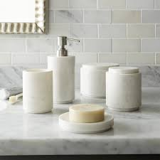 masks bathroom accessories set personalized potty: high low marble bath accessories graydon bath accessories crate barrel remodelista