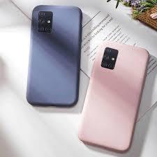 Liquid <b>Silicone</b> Casing Samsung Galaxy A51 A71 <b>Candy Color</b> ...