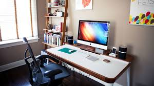 a bedroom that doubles as a home office for two bedroom home office