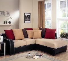 beige microfiber modern sectional sofa wdark brown vinyl base beige sectional living room