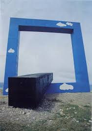 Monument for a dead poet (Window on the sea) – (Tano Festa <b>1989</b> ...
