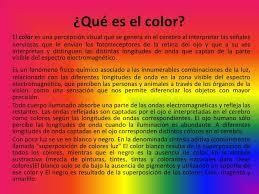 Tema 3 El Color