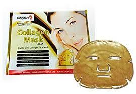 # 10 x New Crystal <b>24K Gold</b> Powder Gel Collagen <b>Face Mask</b> ...