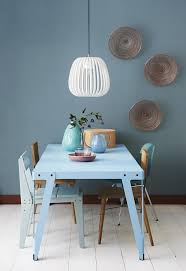 incredible lovely blue dining room