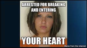 Internet mugshot sensation, Meagan Simmons a.k.a the attractive ... via Relatably.com