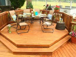 octagon patio table ideas outdoor dining exteriorsmarvelous outdoor small deck ideas with green padded seat sof