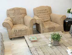 burlap print chairs burlap furniture