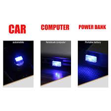 <b>USB</b> Lamps Green <b>4pcs</b> CHIYOU Car <b>Mini USB LED</b> Car Interior ...