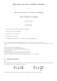 music notation essay repository of music notation mistakes coulon jean pierre general information